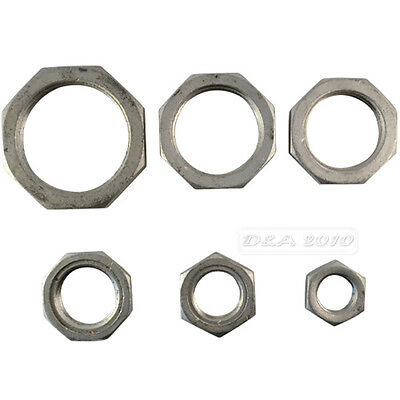 """1/2""""-2"""" Lock Nut Stainless Steel 304 O-Ring Groove Pipe Fitting Lock Nut BSPT"""