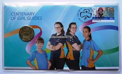 2010 $1 GIRL GUIDES CENTENARY Coin & Stamp Set PNC