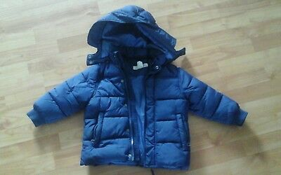 h m jungen winterjacke gr e 92 dunkelblau eur 9 00. Black Bedroom Furniture Sets. Home Design Ideas