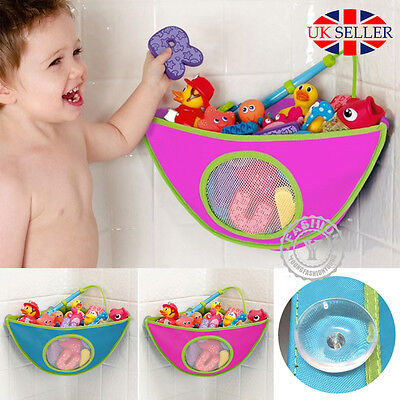 UK Kids Baby Bath Toy Tidy Organiser Net Mesh Storage Bag Peli Play Pouch holder