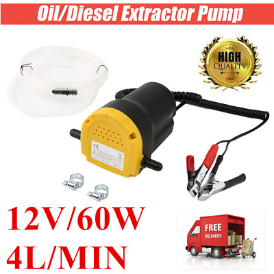 TRANSFER PUMP Extractor OIL Fluid CE 12V ELECTRIC MOTORBIKE 60W Siphon truck SA