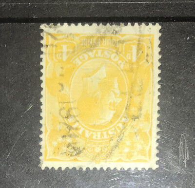 KGV Heads 4d Yellow-Orange with INVERTED WMK used, Scarce INV wmk in that Shade!