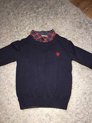 Baby Boy Jumper And Faux Shirt 9-12 Months Next