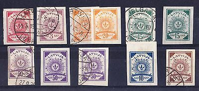 Latvia 1919 Issues IMPERF - Used & Mint - Unchecked