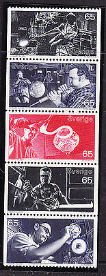 Sweden 1972 Glass Industry Booklet Pane - MNH