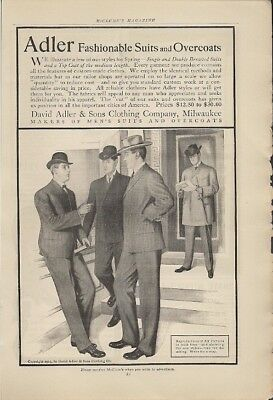 Adler Fashionable Suits and Overcoats 1904 Vintage Ad