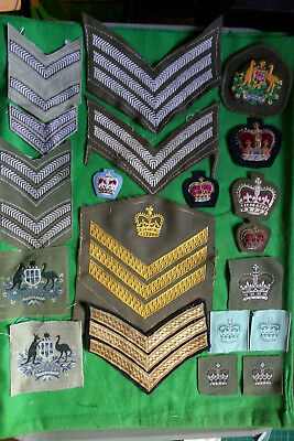 Collection (lot) of Australian Army cloth insignia.