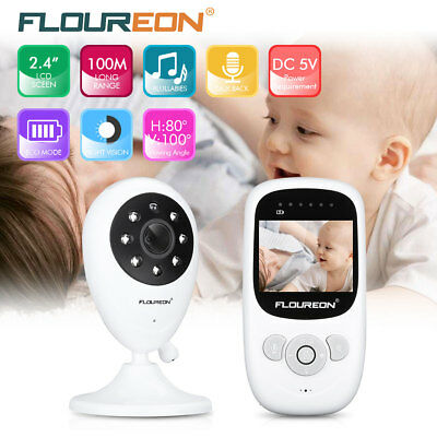 2.4'' Digital Wireless Baby Monitor LCD CMOS Video Security Camera Night Vision