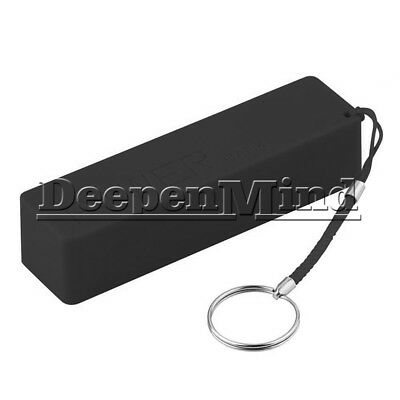 DIY Black 1x18650 Portable USB Power Bank Charger Pack Box Battery Case