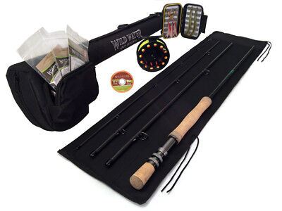 Wild Water DELUXE  9/10 Fly Fishing Starter Package for Saltwater