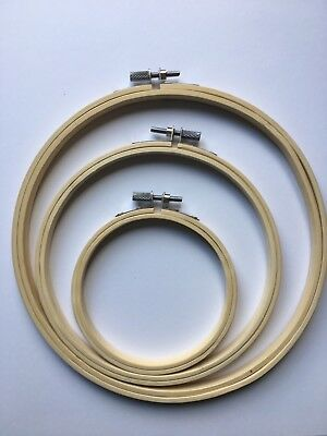 """Embroidery Hoop 4"""" (10cm) - Wooden - Free Postage!"""