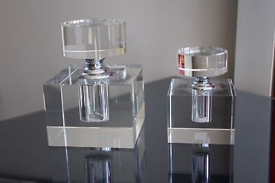 Crystal Glass Perfume Bottle Pair with Gift box