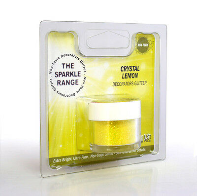 Crystal Lemon - Sparkle Range Non Toxic Glitter - Rainbow Dust