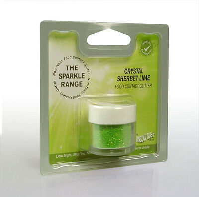 Crystal Sherbet Lime - Sparkle Range Non Toxic Glitter - Rainbow Dust