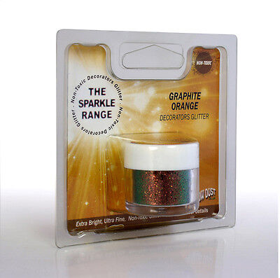 Graphite Orange - Sparkle Range Non Toxic Glitter - Rainbow Dust