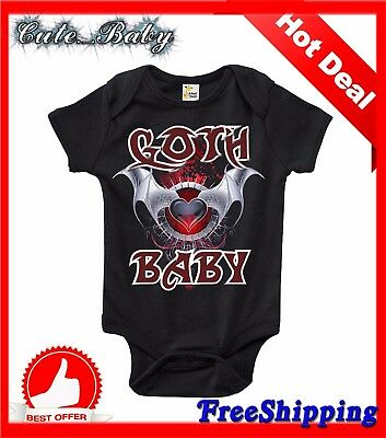 Goth Baby | Baby Bodysuit Cute Funny Baby Clothes Newborn Infant Boys and Girls