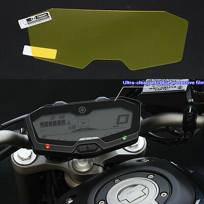 Motor Cluster Scratch Instrument Screen Protector Film Blue For Yamaha FZ07 MT07