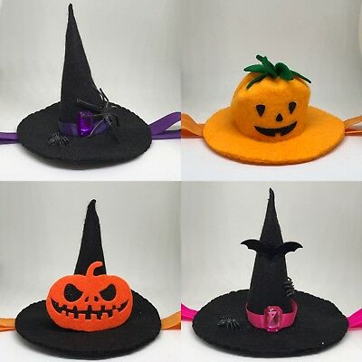 Handmade Witch Hat ,Pumpkin Halloween Headbands Girl Newborn Elastic Band Infant