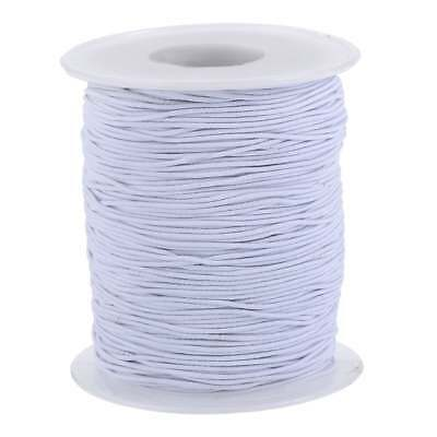White Round Cord Elastic - 2mm and 3mm,  Hats / Beading / Crafts / Masks