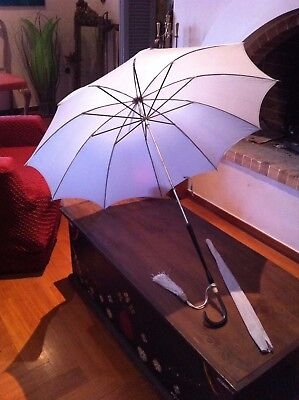 Antique Vintage Umbrella Parasol With Matching External Cover