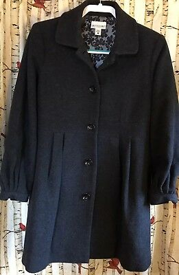Motherhood Maternity Fall/Winter Coat Sz S Wool Blend Charcoal Gray