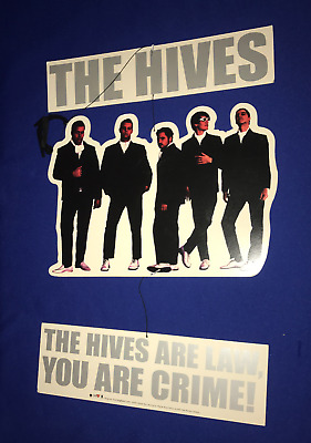 2002 Hives Are Law You Are Crime PROMO HANGING MOBILE DISPLAY poster COMPLETE