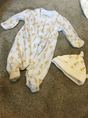 Newborn Jojo Mama Bebe Sleepsuit And Hat. Worn Once. Excellent Condition