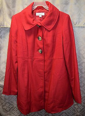 Liz Lange sz S Maternity Jacket Coat Wool Blend Vixen Red Fall Winter
