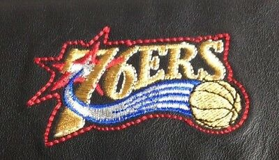 NBA Philadelphia 76ers Black Leather Checkbook Officially Licensed Embroidered