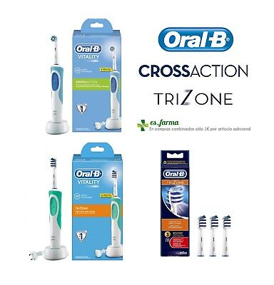 Oral B Vitality Trizone Crossaction Cepillo Dientes Electrico Recambios Cabezal
