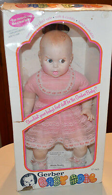 "Vintage ""GERBER BABY"" 17"" Doll 1979 in Pink/White Lace Moving Eyes - VERY NICE!"