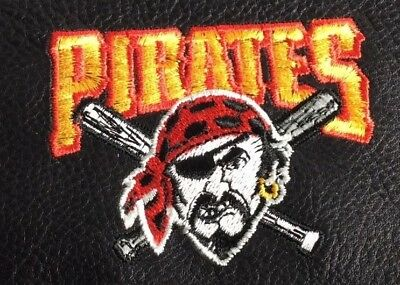 MLB Pittsburgh Pirates Black Leather Checkbook Officially Licensed Embroidered