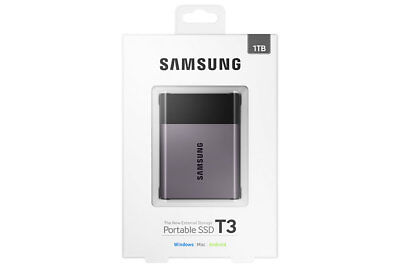 """Samsung T3 1TB 2.5"""" USB 3.1 Type-C Portable External Solid State Drive SSD"""