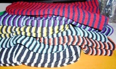 2 Dozen Wholesale Lot Childrens Knit Caps Stripes 6 Colors/ Dozen