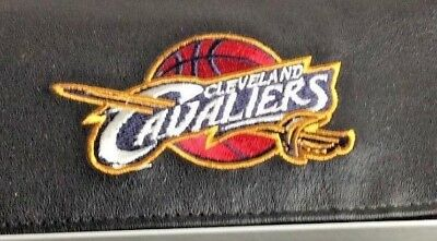 NBA Cleveland Cavaliers Black Leather Checkbook Officially Licensed Embroidered