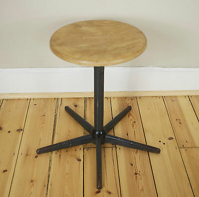Vintage Industrial Machinists stool utility mid-centuary modern