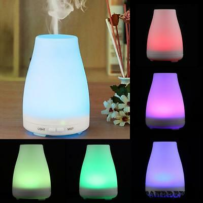 100ML Aroma Diffuser Humidifier Air Purifier Freshener Color Changing LED Light