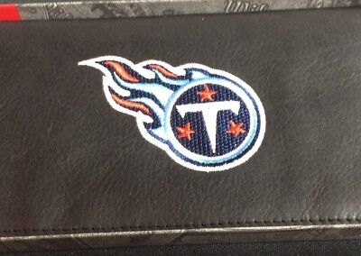NFL Tennessee Titans Black Leather Checkbook Officially Licensed Embroidered