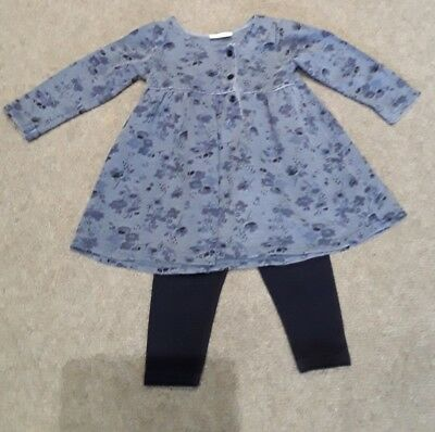 next blue baby girls outfit 6-9 months