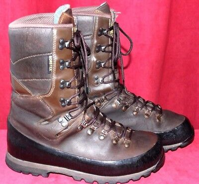 Meindl Dovre Hunting Mountain Hiking Boots Brown Wax Leather Size UK 8.5 EU 42.5