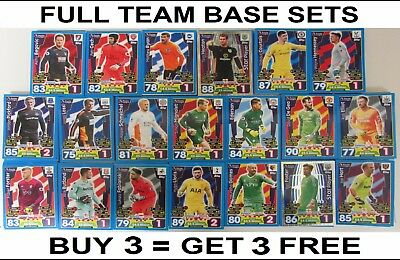 Full Base Team Sets Match Attax 17/18 2017/18 2017/2018 All Cards Attack Premier