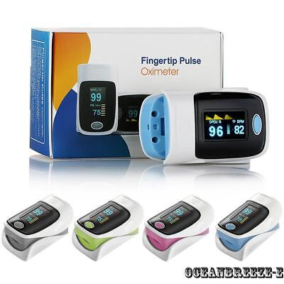 Finger Tip Pulse Oximeter Sensor Blood Oxygen Level SPO2 Monitor PR Heart Rate