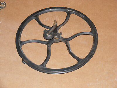 Antique 1913 Singer Sewing Machine Treadle Wheel Parts, Repair, Steampunk