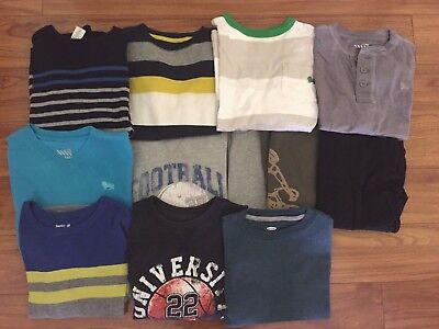 LOT 12pc Boys Mixed Items Sweaters Shirts Size 6 Size 7 Gymboree Old Navy NICE!