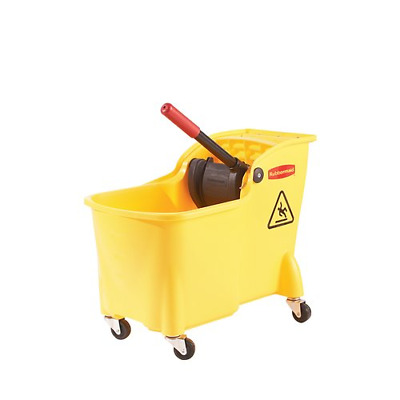 New Rubbermaid Professional Plus Mop Bucket with Wringer 31 Qrt Cleaning Tools