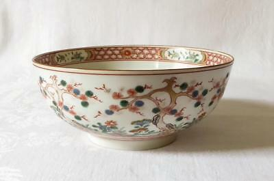 GOOD SIZED 18TH C CHINESE FAMILLE VERTE PORCELAIN BOWL  c1780 CHIEN LUNG DYNASTY