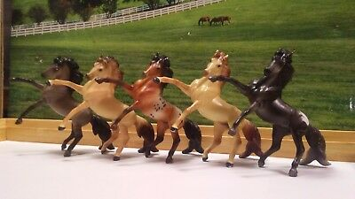 Breyer Stablemate Lot 2: Rearing Andalusian Mustangs x 5, 2 EUC & 3 Body Quality