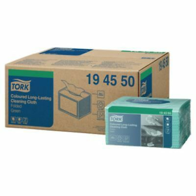 Tork Green 1 Ply Heavy Duty Colour Cloth - Pack Of 40
