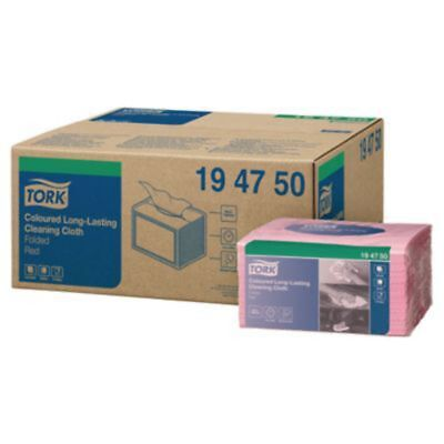 Tork Pink 1 Ply Heavy Duty Colour Cloth - Pack Of 40
