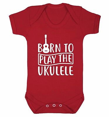 Born to play the ukulele baby vest music strum play lyrics banjo instrument 3994